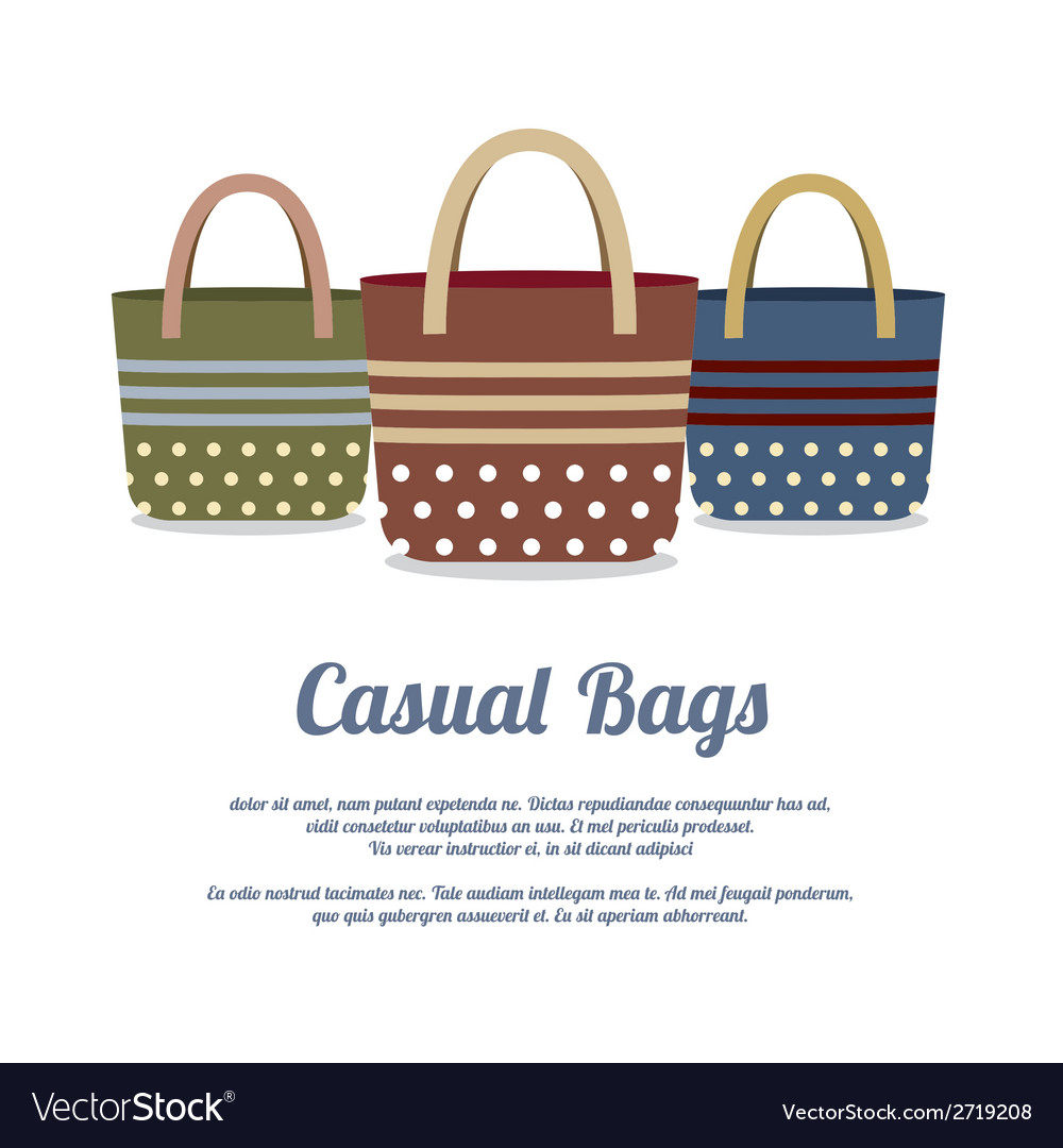 Set of Casual Handbags