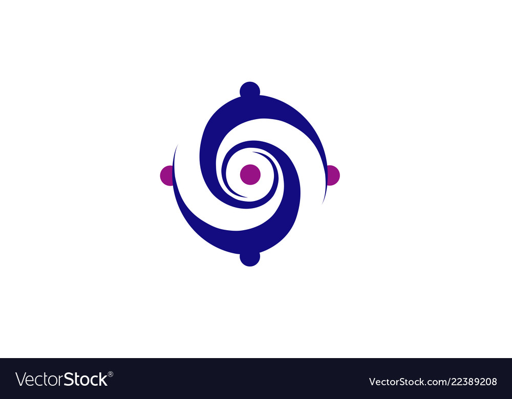 Vortex circle logo vector