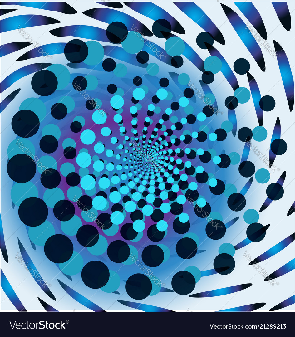 Blue trippy abstract background