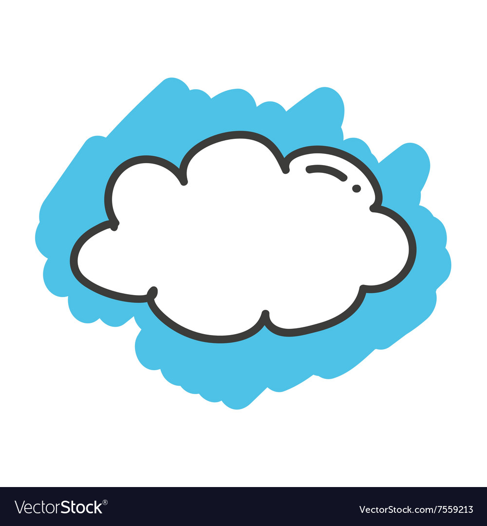 Cartoon clouds vector. Doodle cloud