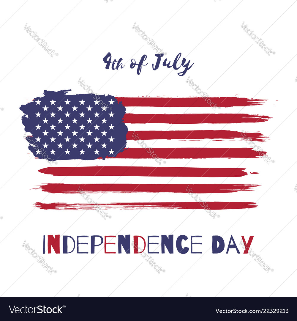 Happy independence day usa watercolor flag