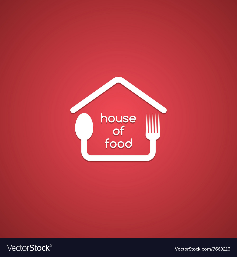 Homemade House Food Logo Template Royalty Free Vector Image