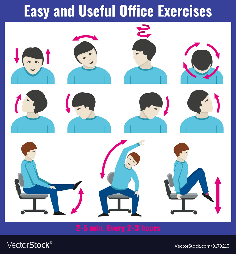 Office syndrome health care concept