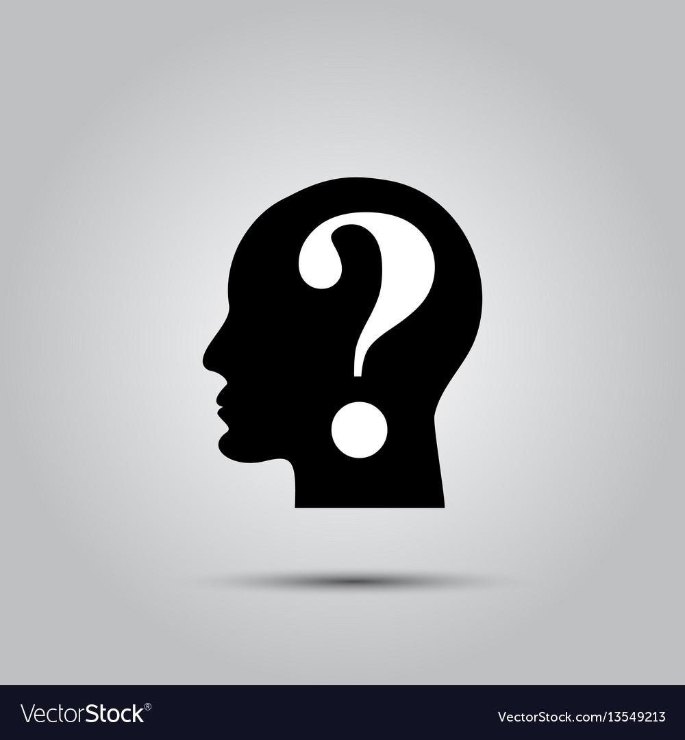 Question mark human head