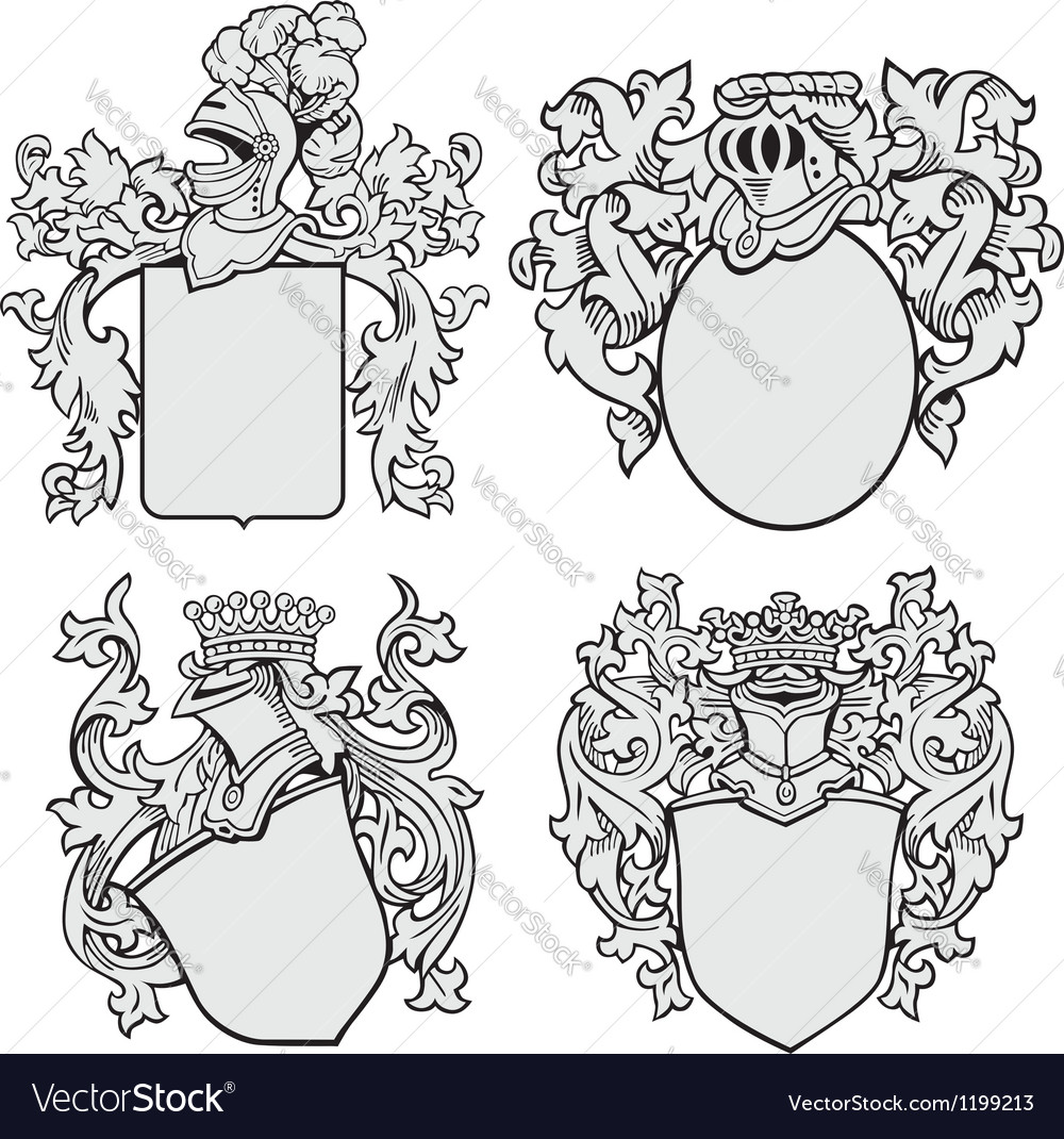 Set of aristocratic emblems No1 vector image