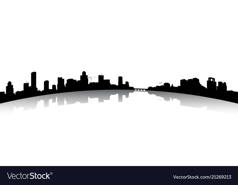 Silhouettes the cityscapes