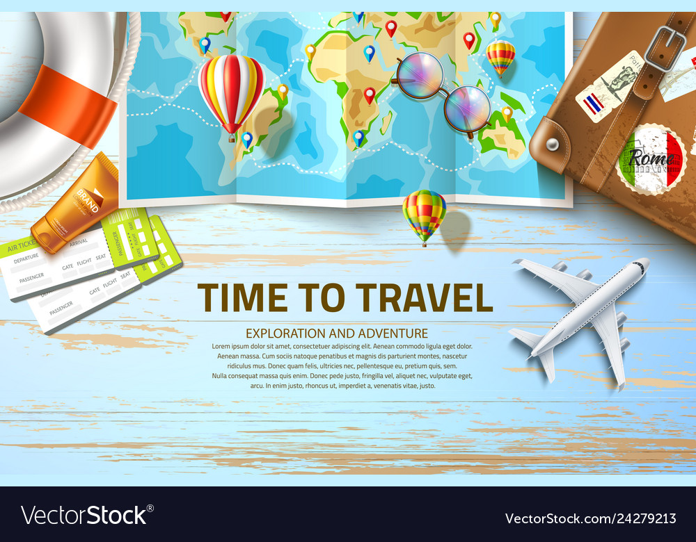 Time to travel poster design 3d