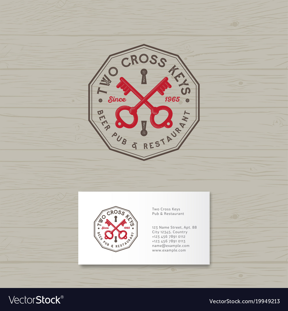Two cross keys pub logo restaurant