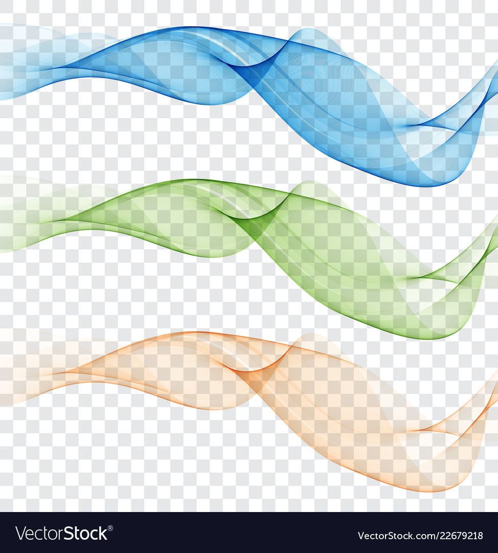 Abstract colourful wave element for design gentle