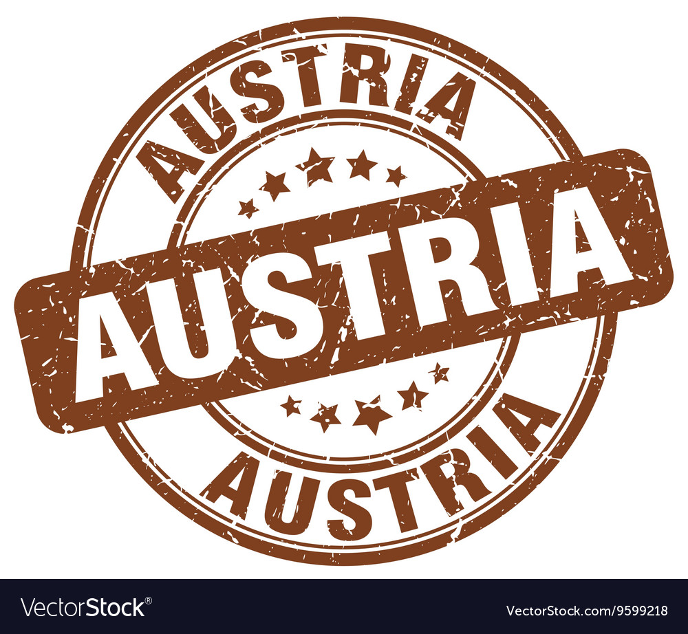 Austria Stamp Royalty Free Vector Image