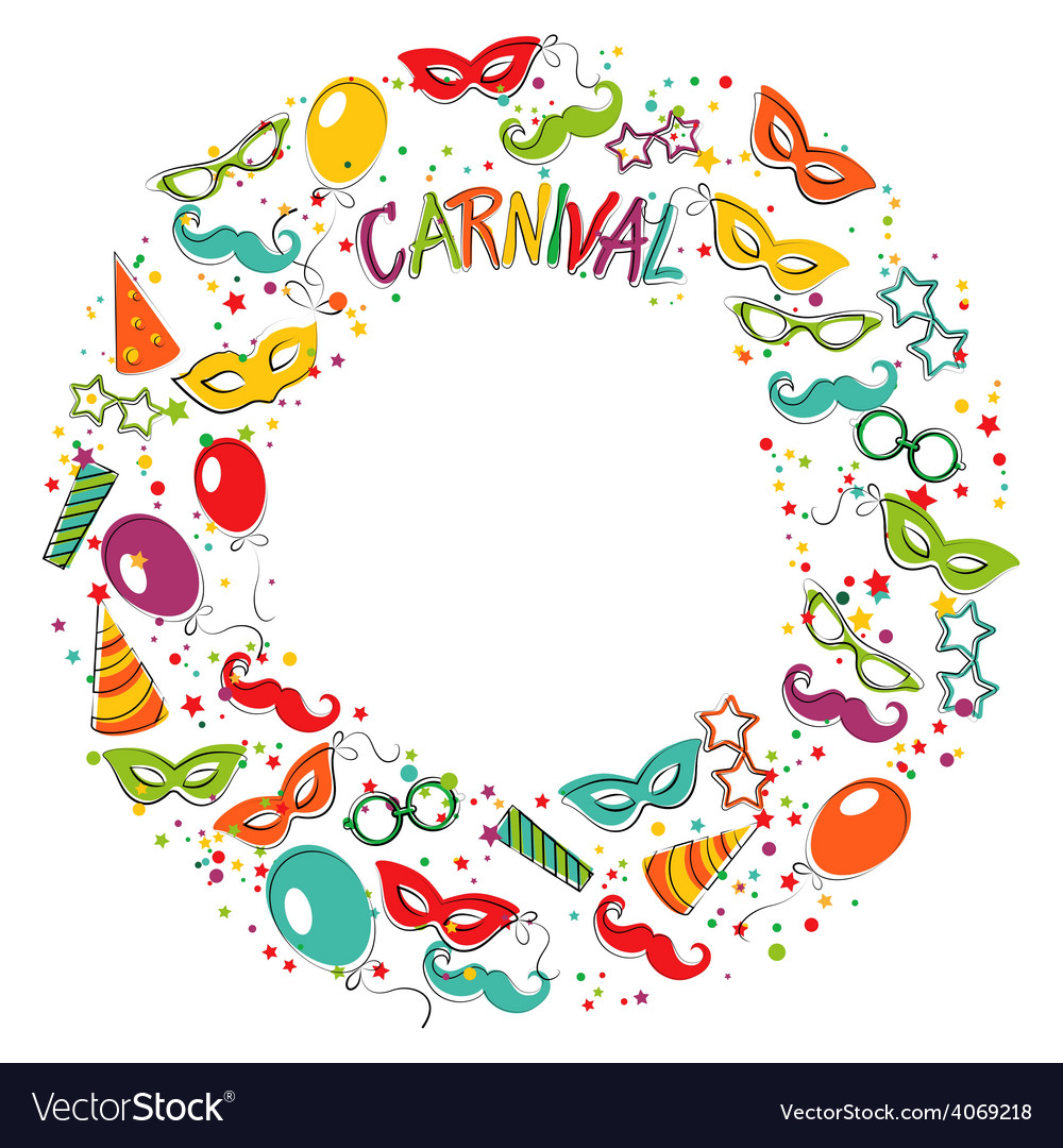 carnival template royalty free vector image vectorstock