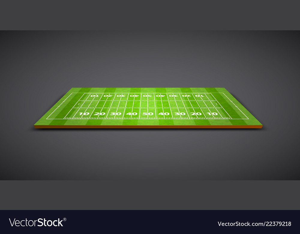 Clear green rugby or soccer field