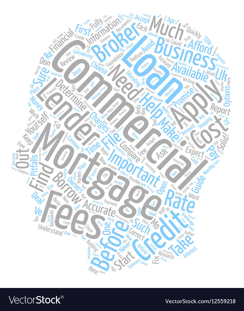 Commercial Mortgages In The UK text background