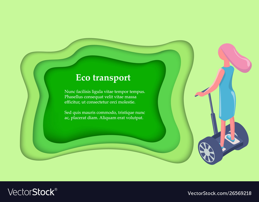 Eco transport girl ride on gyro scooter back view