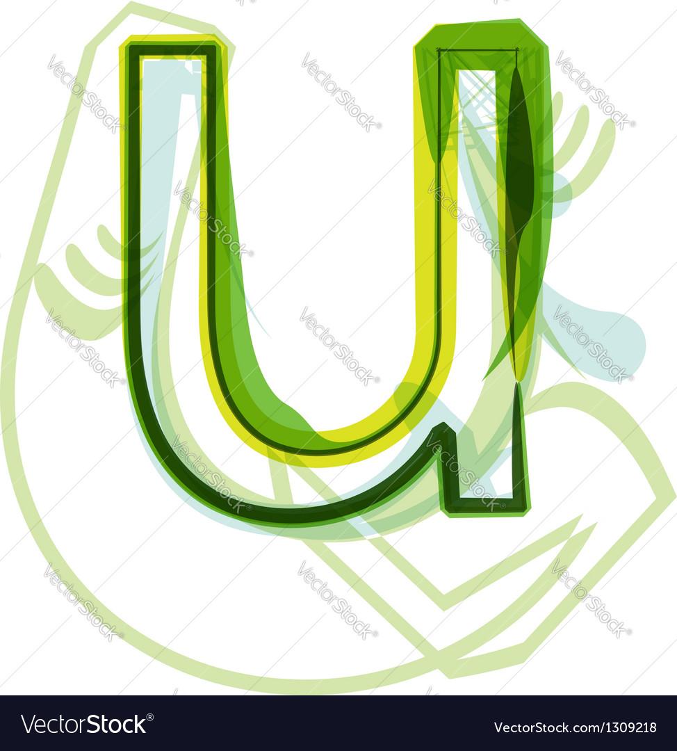 Green letter U