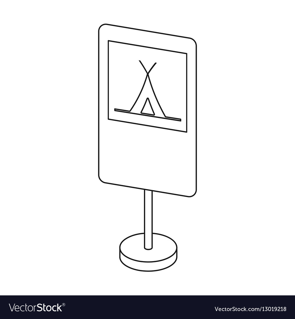 Guide road sign icon in outline style isolated on