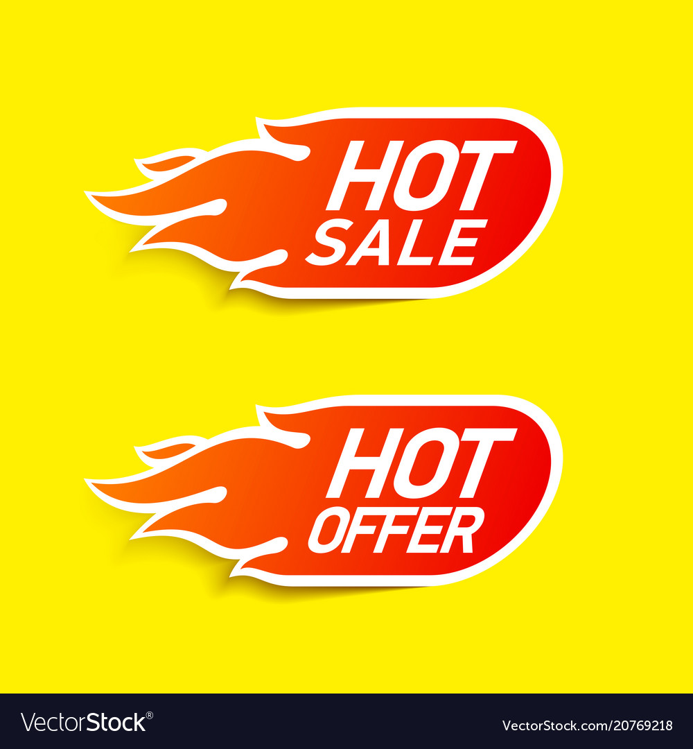 Hot sale and hot offer labels stickers special