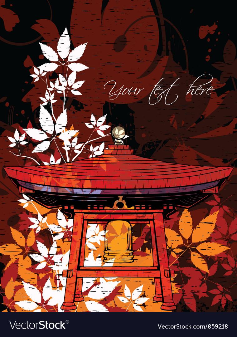 Japanese Grunge Floral Background Royalty Free Vector Image