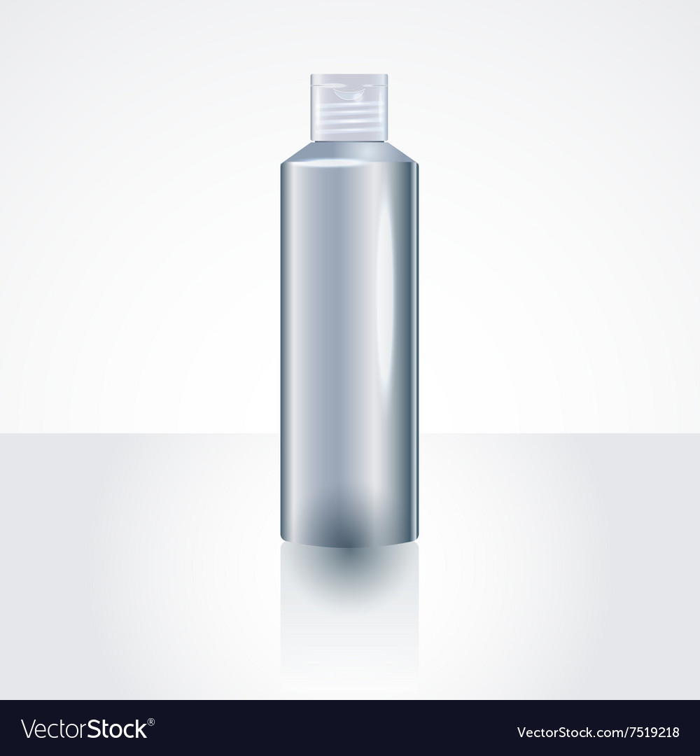 Plastic Shampoo Bottle Package MockUp Template