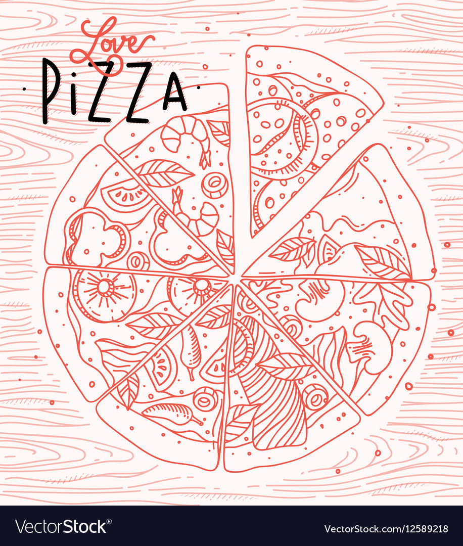 Poster love pizza