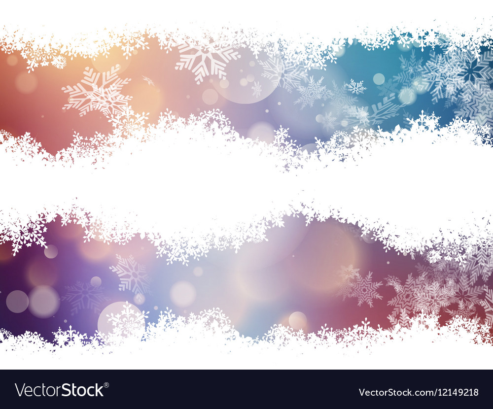 Red and blue out of focus background EPS 10 vector image
