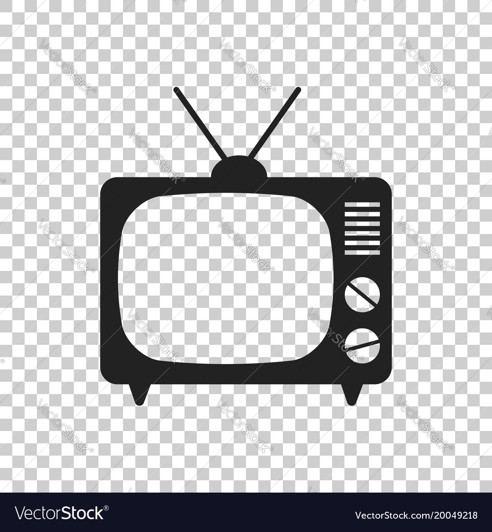 Tv icon in flat style isolated on isolated