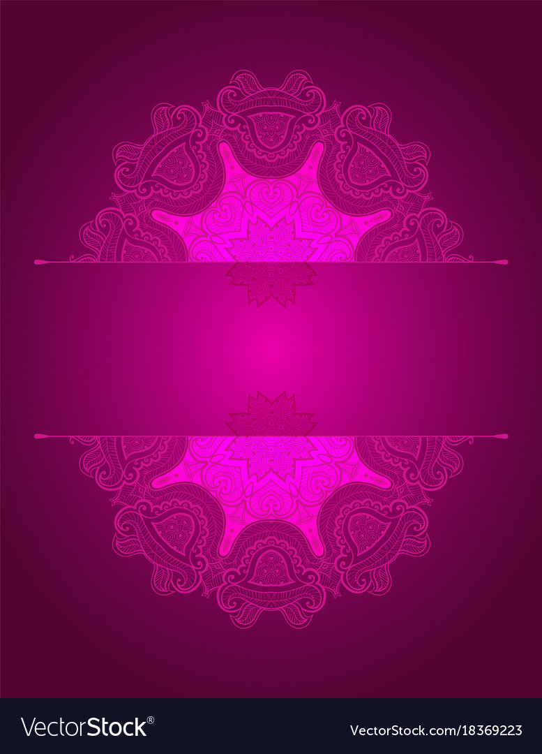 Background with round lace oriental ornament