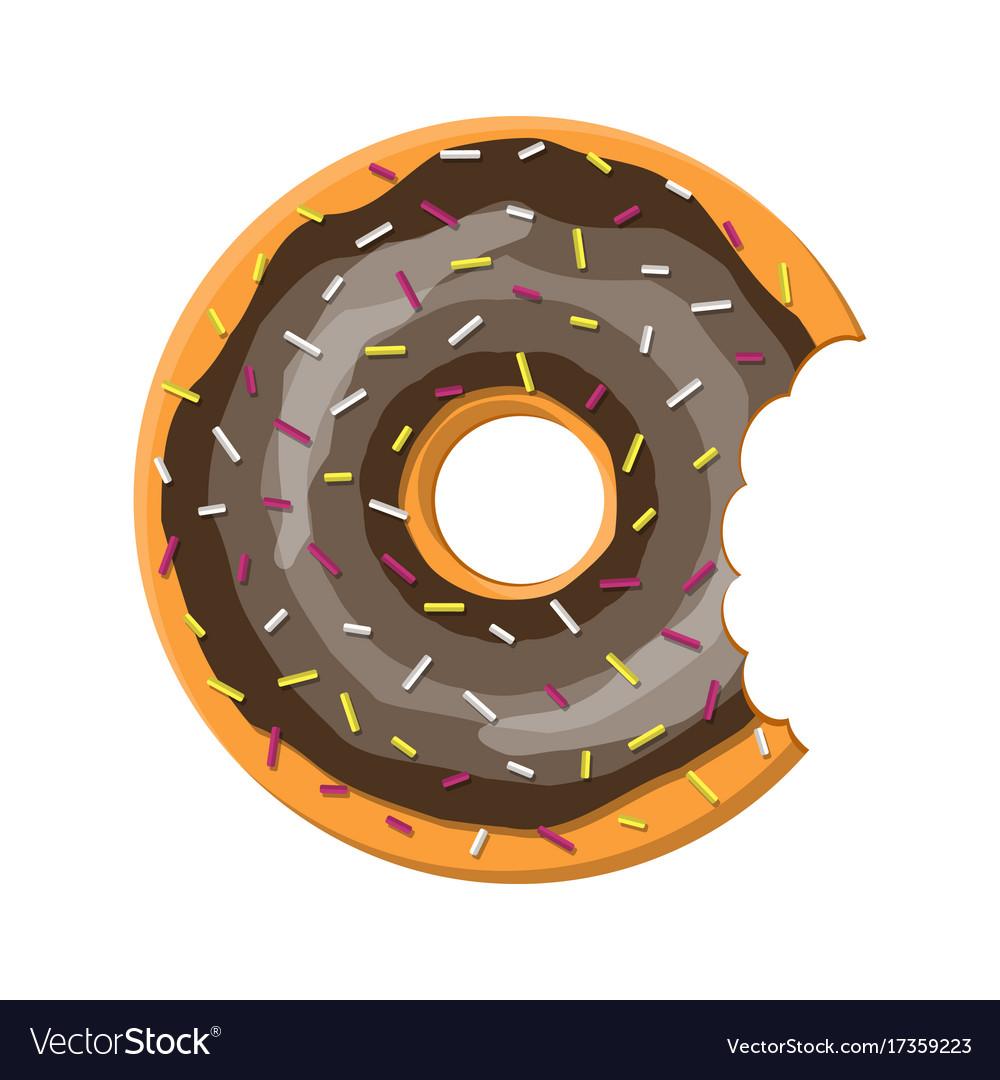 Donut cake set isolated on white background