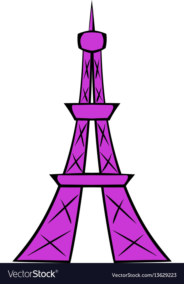 Eiffel tower icon cartoon