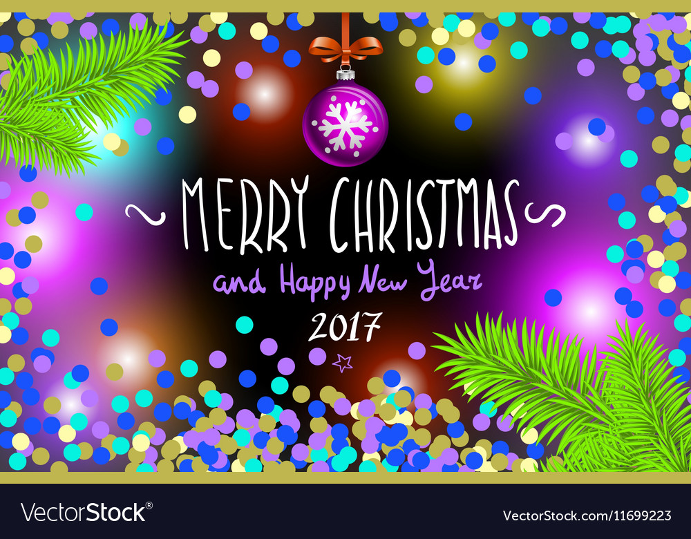 - Glowing Color Christmas Lights Wreath For Xmas Vector Image