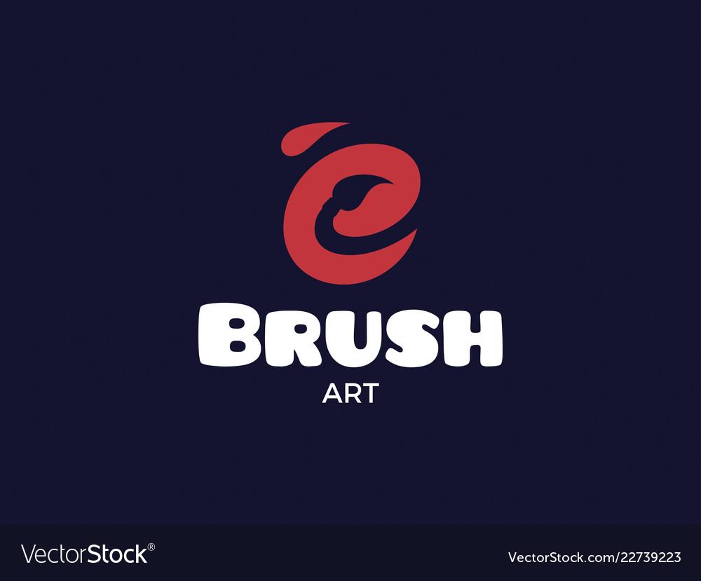Modern professional logo brush on black background