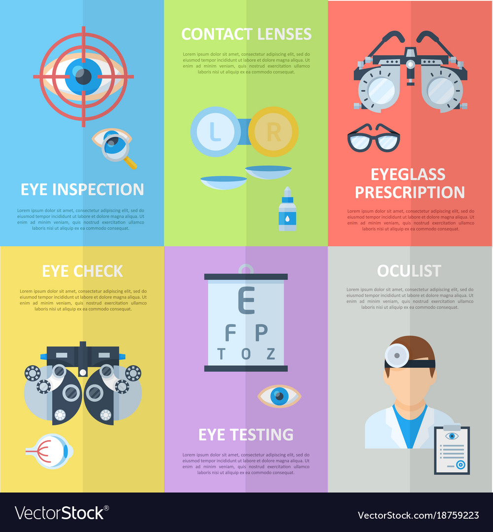 c4660bdf99 Ophthalmologist or oculist vertical banners Vector Image