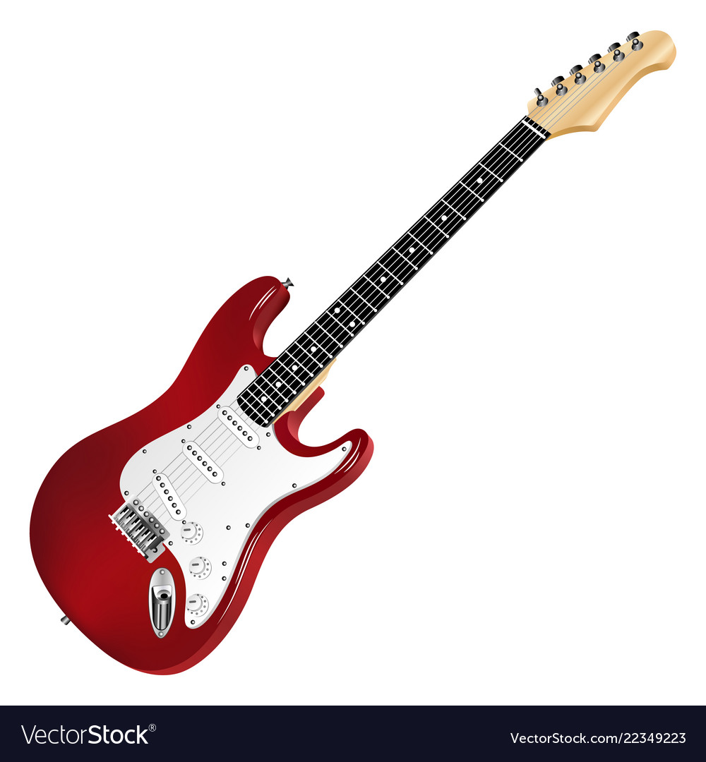Red electric guitar classic