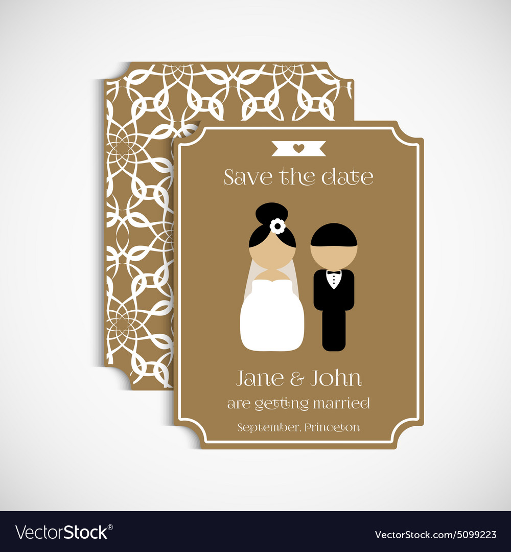 Set of floral vintage wedding cards Wedding