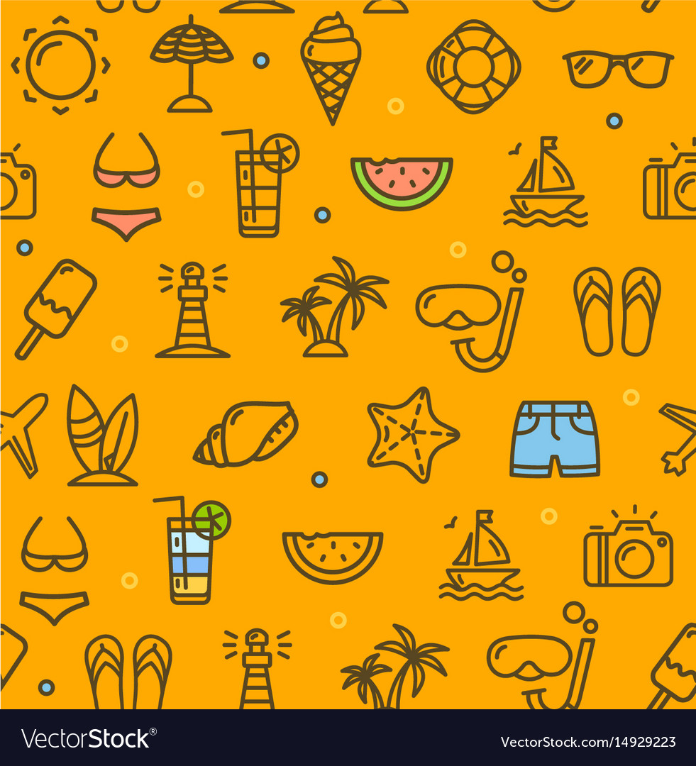 Summer travel recreation holiday pattern
