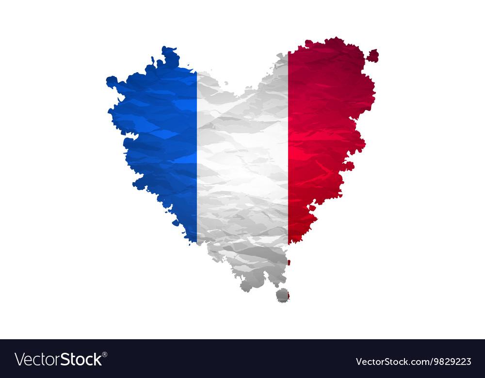 Vive la France hand painted national flag