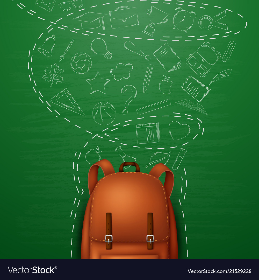 Backpack and back to school background