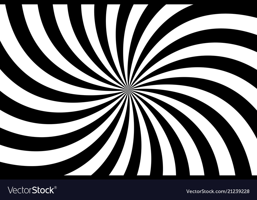 Black and white spiral background swirling radial