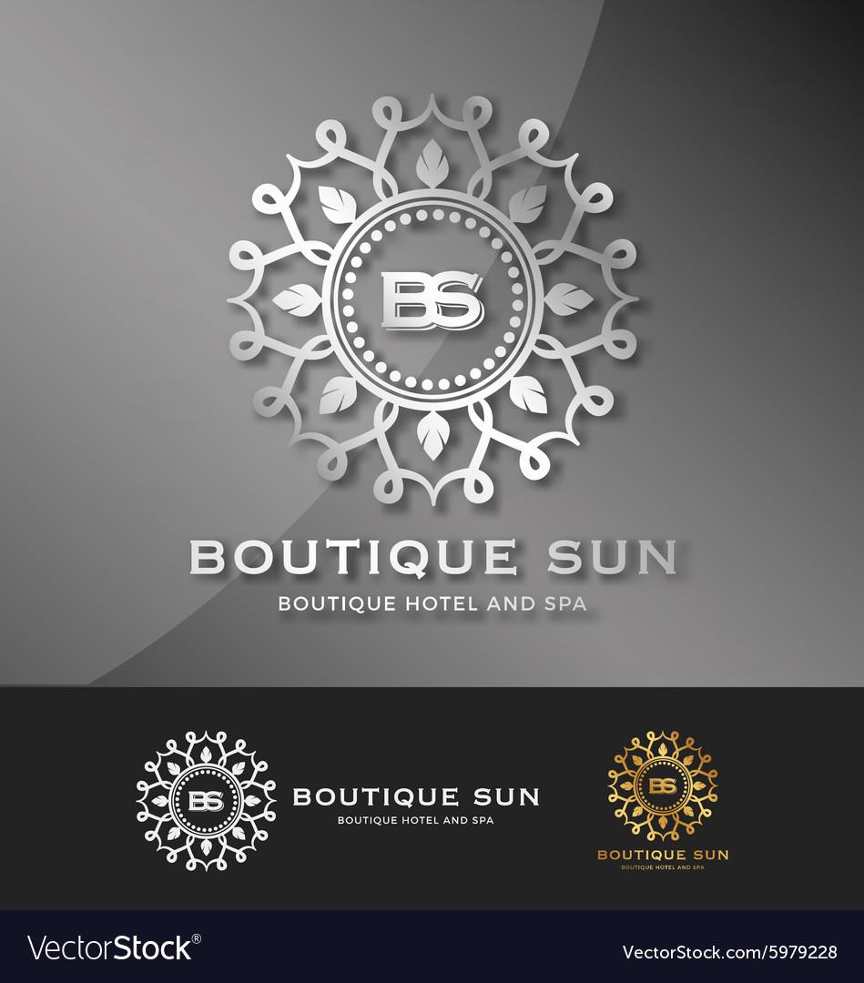 Boutique hotel and spa logo design