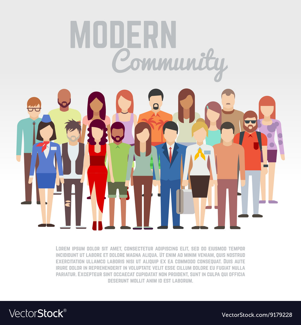 Business or politics community society members vector image