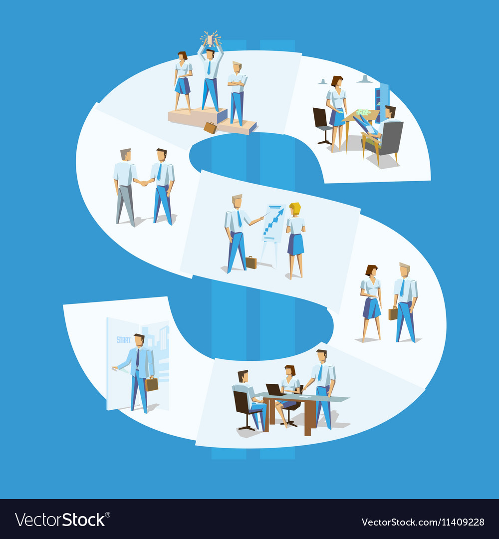 Business people Group Team Leader concept vector image