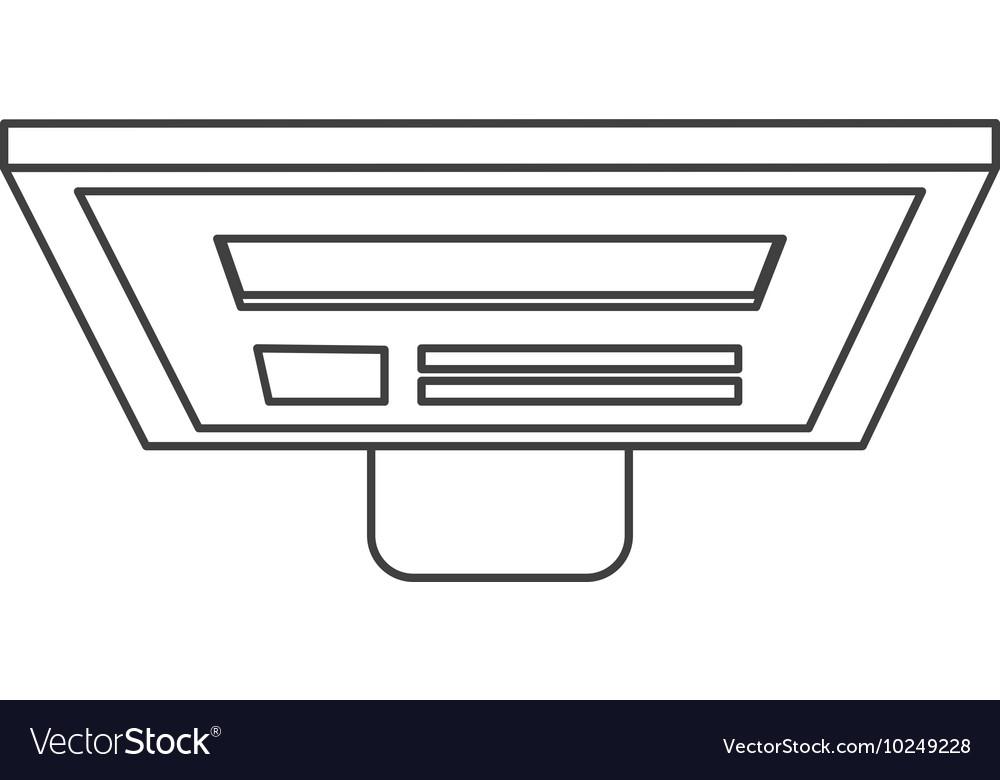 Computer monitor topview icon