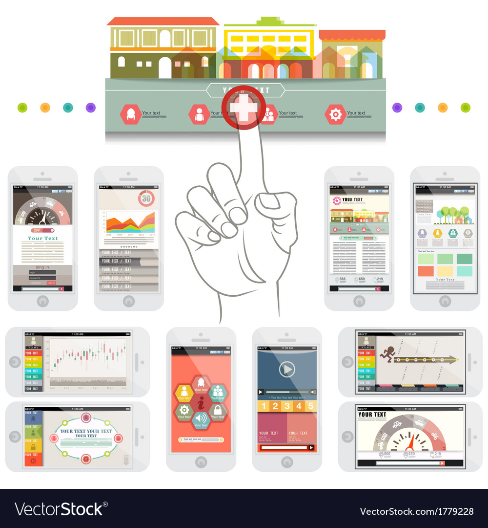 Infographic elements in smartphone