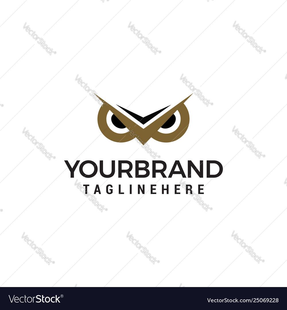 Owl eye logo design concept template