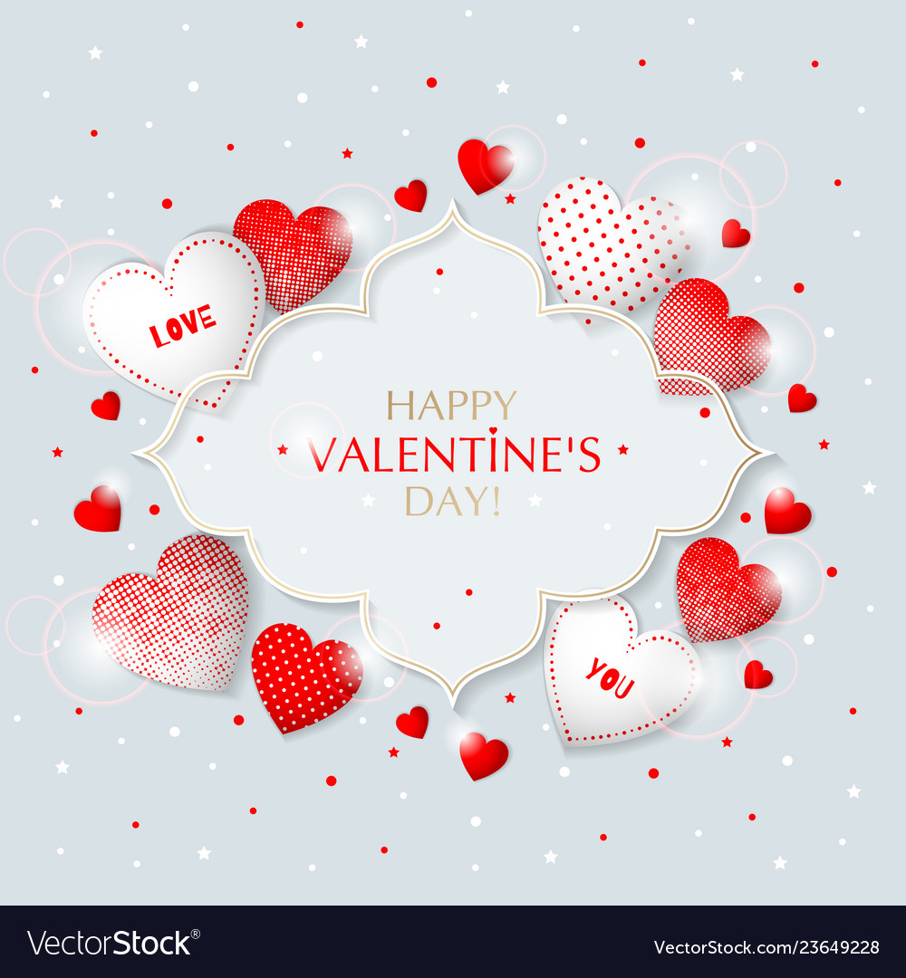 This is valentine s day frame with hearts