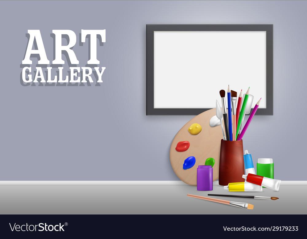 Art gallery mock up realistic