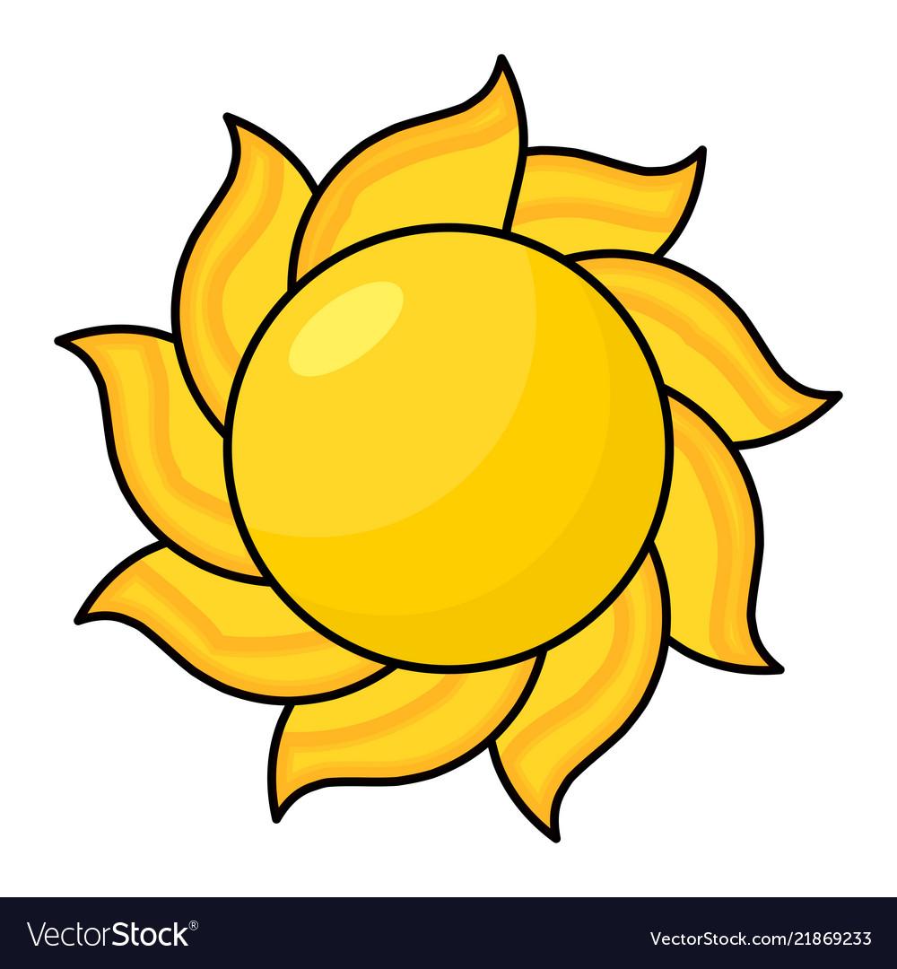 Cartoon sun symbol icon design