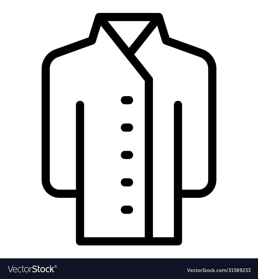Cook shirt icon outline style