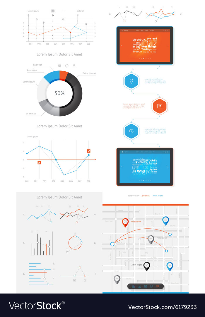 Elements of infographics and user interface