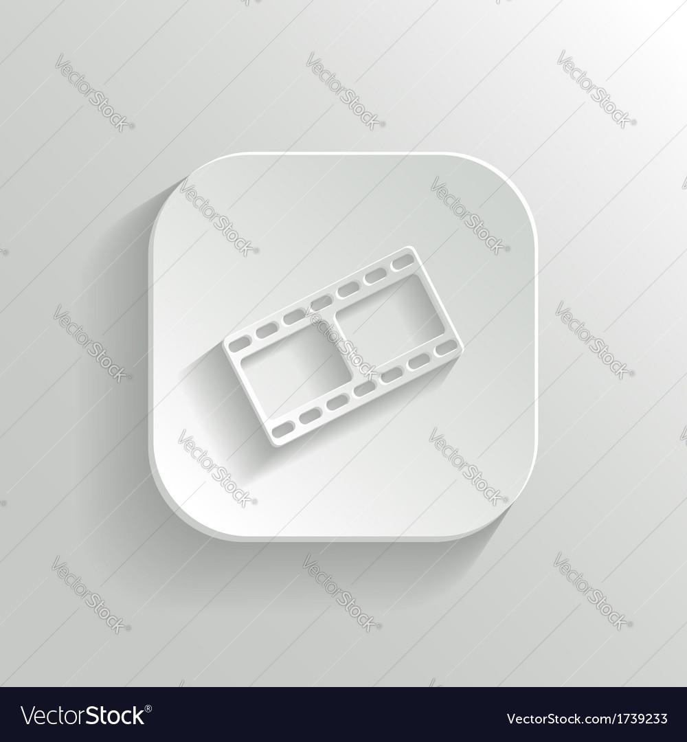 Film icon - white app button